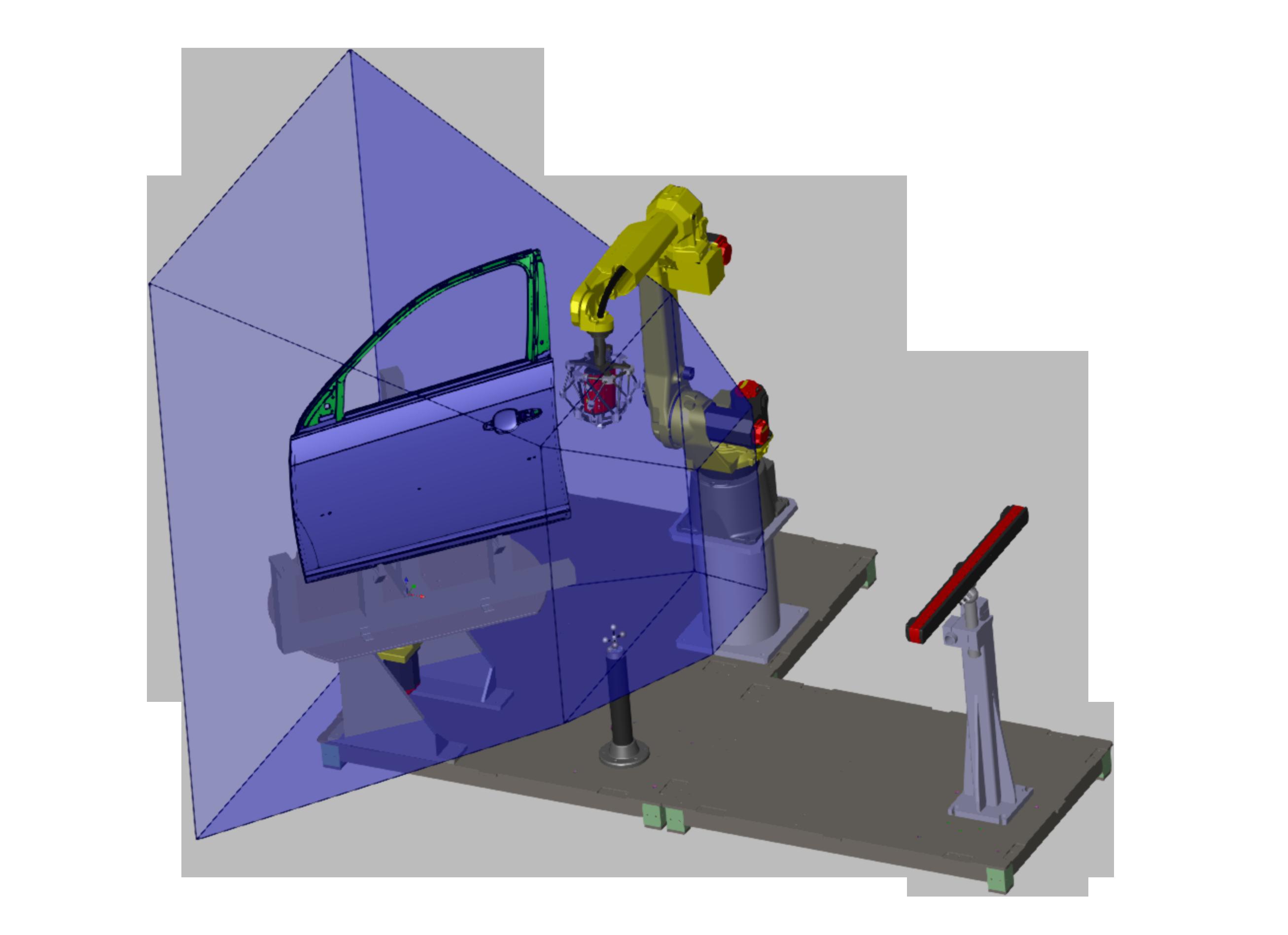 Perceptron AutoGaugeACF Automated Checking Fixture Solution CAD