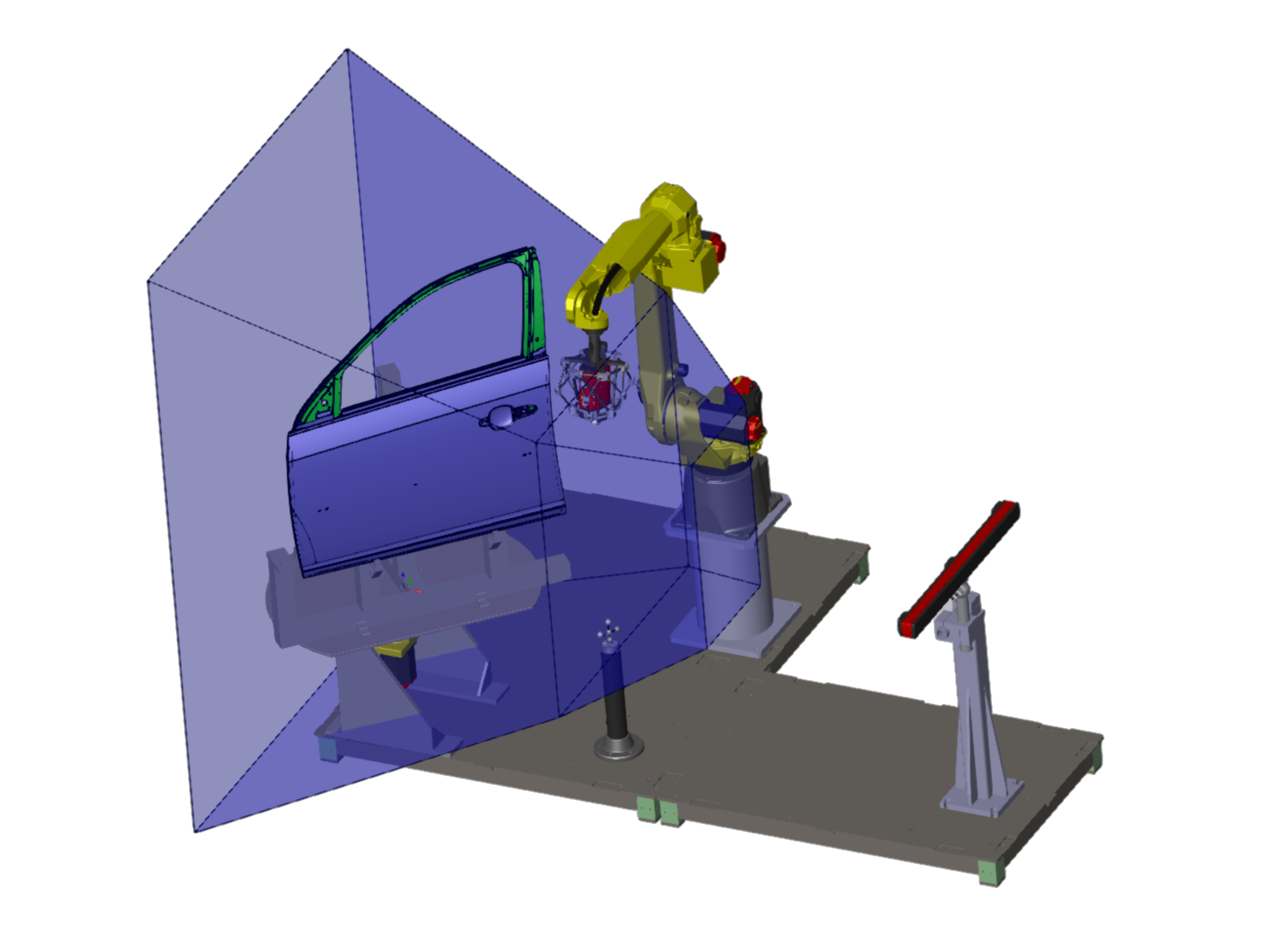 Perceptron AutoGaugeACF Automated Checking Fixture Solution CAD