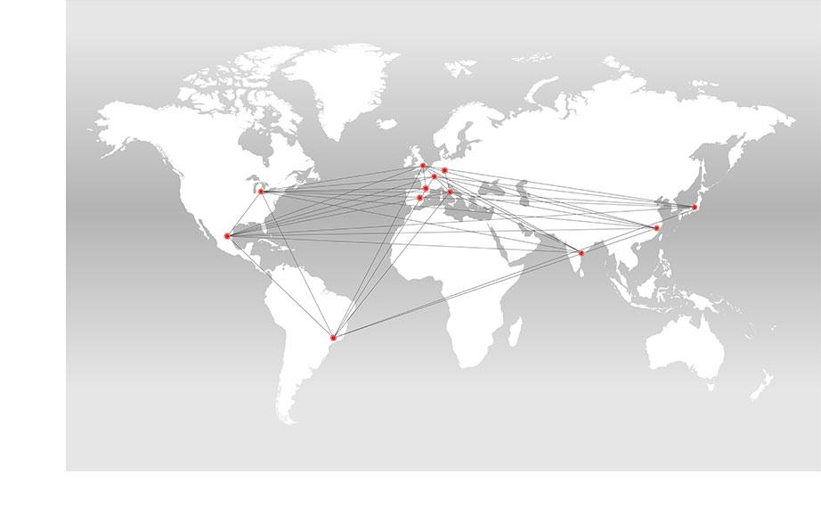 Perceptron Global Office World Map